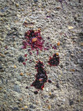 Blood droplet on the floor Royalty Free Stock Image
