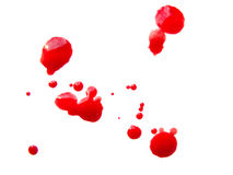 Blood drops Royalty Free Stock Photography