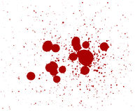Blood drops Stock Photography