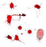 Blood Drops And Fingerprint Stock Photography