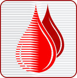 Blood drops logo Stock Images