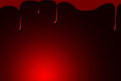Blood drops on a red background Royalty Free Stock Photo