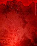 Blood drops on red background. Blood drops on a dark red background Royalty Free Stock Images