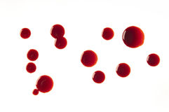 Blood drops Royalty Free Stock Photos