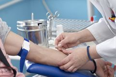 Blood extraction closeup 4 Royalty Free Stock Photo