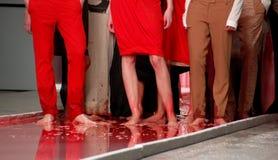 Blood fashion. Fashion show by Ukrainian fashion week (spring 2009 Royalty Free Stock Image