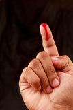 Blood on finger Stock Images
