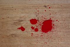 Blood on floor Stock Photo