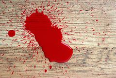Blood on floor Royalty Free Stock Photo