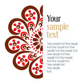 Blood flower background. In Royalty Free Stock Images
