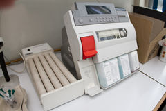 Blood gas analyzer Stock Photo