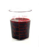 Blood in glass medicine Stock Photo