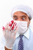 Blood in Glove Stock Image