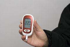 Blood glucose meter Royalty Free Stock Image