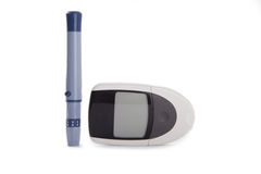 Blood glucose meter Royalty Free Stock Photo
