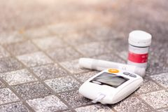 Blood glucose meter. royalty free stock photos