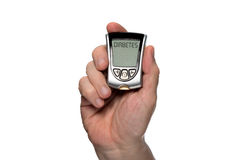 Blood glucose meter to check the blood sugar level Stock Image