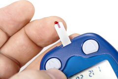 Blood glucose monitoring Stock Images
