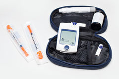 Blood Glucose Monitoring Meter for Diabetes, glucometer Stock Photos