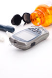 Blood glucose monitoring system Royalty Free Stock Image