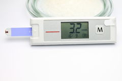 Blood glucose monitoring system Royalty Free Stock Images