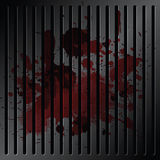 Blood on grille metallic Royalty Free Stock Images