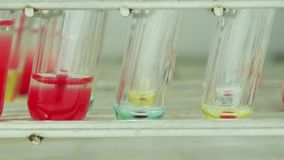 Blood group testing. Blood group testing in lab stock video footage