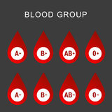 Blood group type icon flat web sign symbol logo label set Stock Photo