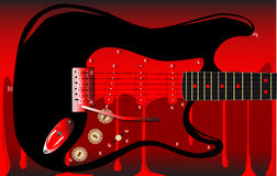 Blood Guitar Stock Photo