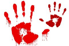 Blood hand Stock Photography