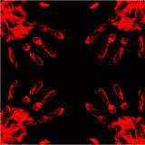 Blood hand background Stock Photos