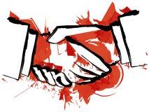 Blood hand shake Royalty Free Stock Image