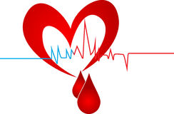 Blood heart Stock Photos