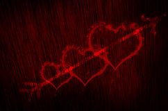 blood heart texture background Stock Images