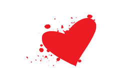 Blood heart -vector Stock Image