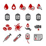 blood icon set stock illustration