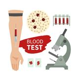 Blood infographic royalty free illustration