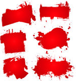 Blood ink splat Stock Photography