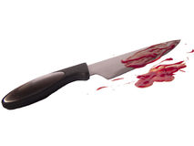 Blood knife Royalty Free Stock Photography