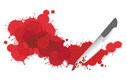 Blood and Knife Stock Photography