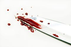 Blood on knife Royalty Free Stock Image