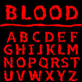 Blood letter set Royalty Free Stock Photography
