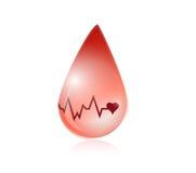 Blood and lifeline illustration design Stock Images