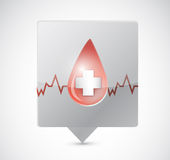 Blood lifeline message bubble illustration design Stock Photography