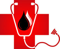 Blood logo Royalty Free Stock Image
