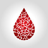 Blood logo Stock Photography
