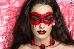 Blood mask Royalty Free Stock Image