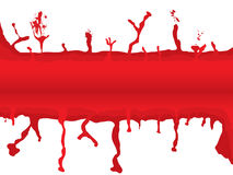 Blood melt. Abstract blood background with room to add your own text Stock Image