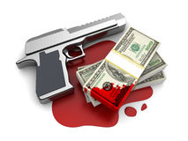 Blood money Stock Photography