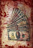 Blood money, US Dollars ,artistic processed Royalty Free Stock Photos
